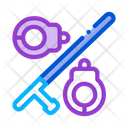 Handcuffs And Bats Icon