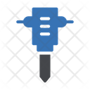 Handdrill Worker Construction Icon