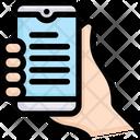 Handholding Mobile Icon