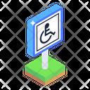 Disable Sign Bard Handicap Sign Board Wheelchair Sign Board Icon