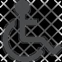 Human Uncapable Human Disability Icon