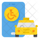 Taxi App Disabled Icon