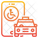 Handicap Taxi Icon