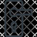 Handle Door Lock Icon