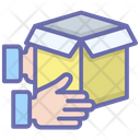 Handling Packing Logistic Parcel Package Delivery Icon