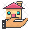 Hand House Home Icon