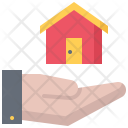Hand Building House Icon
