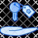 Hand Key Badge Icon
