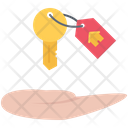 Hand Key Real Icon