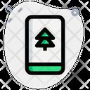 Handphone Pine Tree Icon