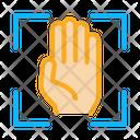 Person Handprint Scan Icon