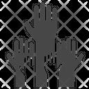 Hands Election Hands Volunteer Icon