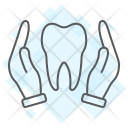 Hands Holding Tooth Icon