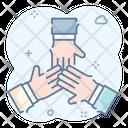Hands Together Hands Gesture Shaking Hands Icon