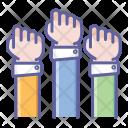 Team Finger Hand Icon