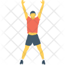 Hands Up Exercise Icon
