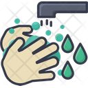 Hands Wash Hand Background Icon