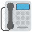 Handset Landline Telephone Icon