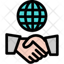 Handshake Hand Global Icon