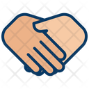 Friendship Hands Meeting Icon