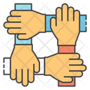 Handshake Teamwork Coordination Icon