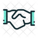 Cooperation Handshake Agreement Icon