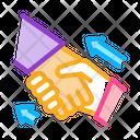 Human Handshake Psychotherapy Icon