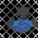 Handshake Corona Virus Icon