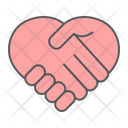 Heart Handshake Love Icon