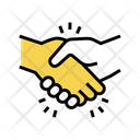 Handshake Greeting Color Icon