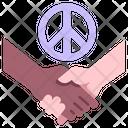 Peace Handshake Hand Icon