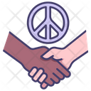 Peace Handshake Hand Icon