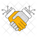 Handshake Technology Data Icon