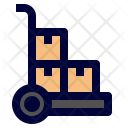 Handtruck Delivery Shipping Icon