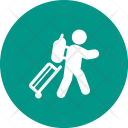 Handtruck Carrying Luggage Icon