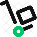Handtruck Delivery Package Icon