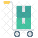 Handtruck Delivery Boxes Icon