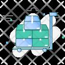Handtruck Cargo Logistics Icon