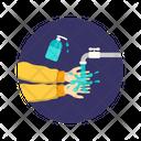 Handwash With Sanitizer Icon