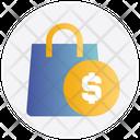 Hang Bag Case With Dollar Sign Money Bag Icon