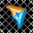 Gliding Hang Glider Icon