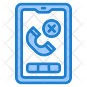 Smartphone Mobilephone Hang Up Icon