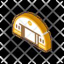 Hangar Building Isometric Icon
