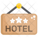Hanging Banner Hotel Banner Hotel Board Icon