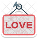 Hanging Board Love Icon