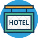Hanging Hotel Hotel Counter Icon