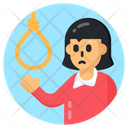 Death Rope Suicide Hanging Rope Icon