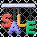 Hanging Sale Alphabets Sale Letters Sale Labels Icon