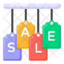 Hanging Sale Mark Hanging Sale Tags Sale Labels Icon