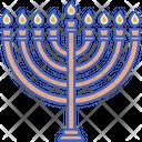 Hanukkah Jewish Menorah Icon